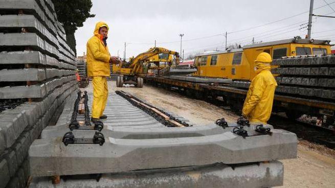 I lavori sulla Ferrovia Centrale Umbra