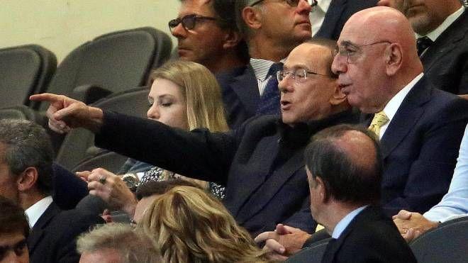 Silvio Berlusconi e Adriano Galliani a San Siro