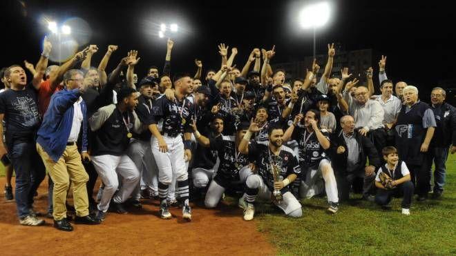 Fortitudo Baseball, la festa per l'11esimo scudetto (foto Bellocchio)