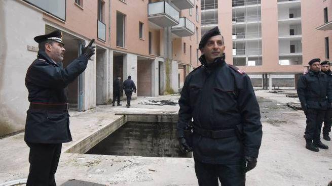 I carabinieri hanno effettuato controlli lo scorso inverno in uno dei palazzi abbandonati di Ponte San Giovanni