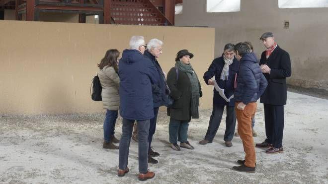 Un recente sopralluogo all'interno della Cavallerizza (Cavalleri)