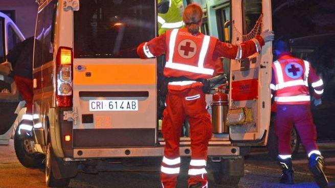 Un intervento di un'ambulanza