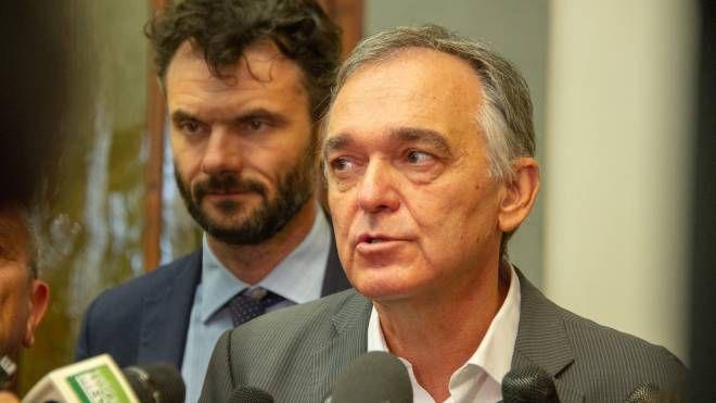 Matteo Biffoni con il presidente della Regione Enrico Rossi