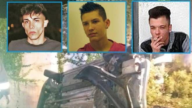 Le vittime dell'incidente, da sin: Michele Duchino, Alexander Solovyev e Alfonso Tolone