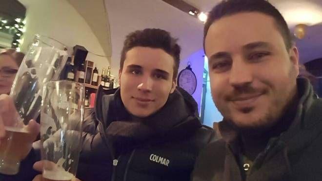 Monir Grida con il figlio Gabriele