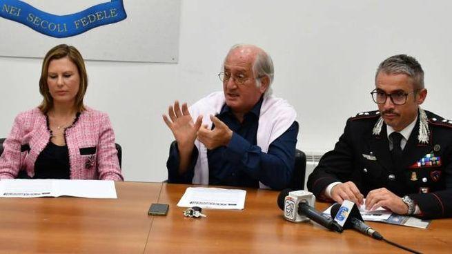 Il Pm Roberta Moramarco, il Procuratore Aldo Giubilaro e il comandante Massimo Rosati