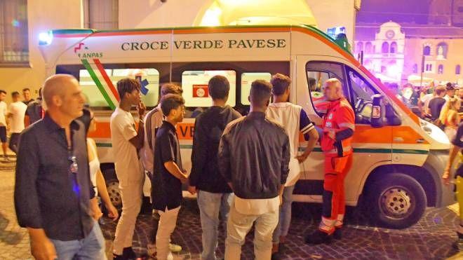 Ambulanza alla Notte bianca di Pavia