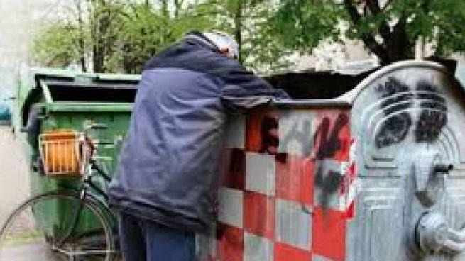 Barbone ruba la spazzatura