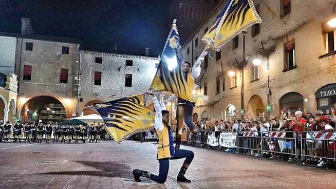 Andrea Baraldi e Giacomo Malagoli in un passaggio spettacolare della propria esibizione