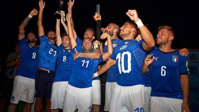 L'Italia del beach soccer campione d'Europa (foto dal sito Figc)