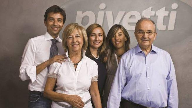 Assieme ad Alberto Pivetti i tre figli Gianluca, Silvia e Paola,la vera anima dell'azienda