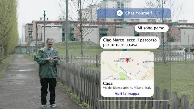 """Uno screenshot del chatbot, la memoria virtuale diventa una alleata dei malati di Alzheimer, patologia che affligge oltre 600mila italiani. Dal progetto 'Chat Yourself' arriva infatti un aiuto per chi affronta le prime fasi della malattia e per le famiglie: l'esperienza del chatbot, ovvero """"assistenti virtuali"""" che si avvalgono dell'intelligenza artificiale a supporto delle persone. Il progetto è stato presentato al Ministero della Salute in occasione dell'incontro 'Alzheimer, non perdiamolo di vista', organizzato da Italia Longeva a Roma, 11 settembre 2018.  ANSA/US POLICLINICO GEMELLI +++ ANSA PROVIDES ACCESS TO THIS HANDOUT PHOTO TO BE USED SOLELY TO ILLUSTRATE NEWS REPORTING OR COMMENTARY ON THE FACTS OR EVENTS DEPICTED IN THIS IMAGE; NO ARCHIVING; NO LICENSING +++"""