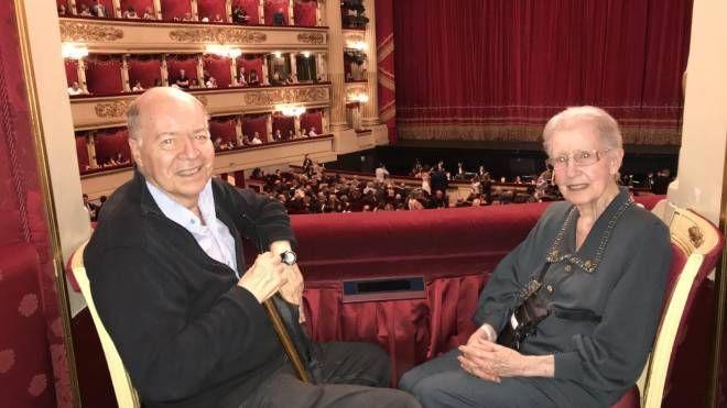 Piero Braconi e Liliana Tondino detta Lilli alla Scala