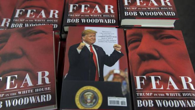 """Fear: Trump at the White House"", il libro di Bob Woodward (Ansa)"