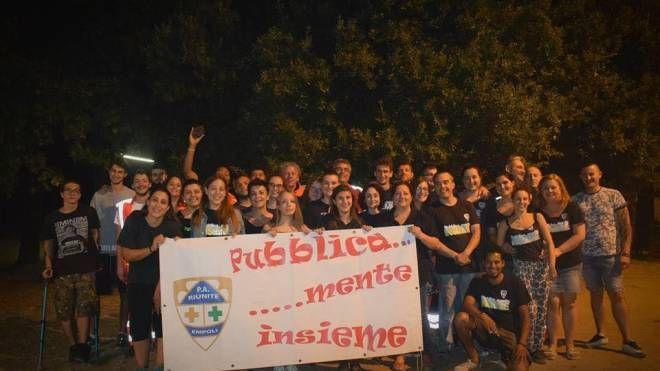 Un momento della festa al parco di Serravalle