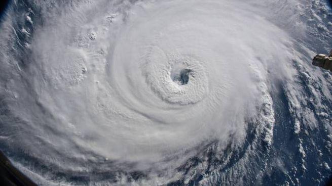 Uragano Florence nelle immagini satellitari della Nasa (Ansa)
