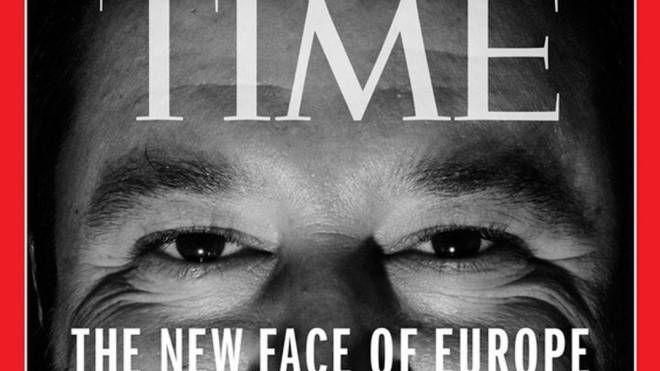 Matteo Salvini nella copertina di Time (Ansa)