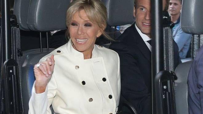 Brigitte e il presidente francese Macron
