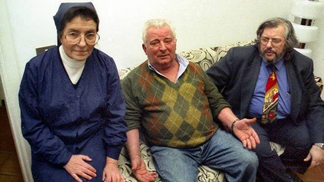 Suor Elisabetta, Pietro Pacciani e il criminologo Francesco Bruno (New Press Photo)