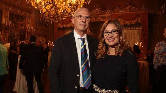 Pippo Zeffirelli e Nicoletta Mantovani (Foto Giuseppe Cabras/New Press Photo)