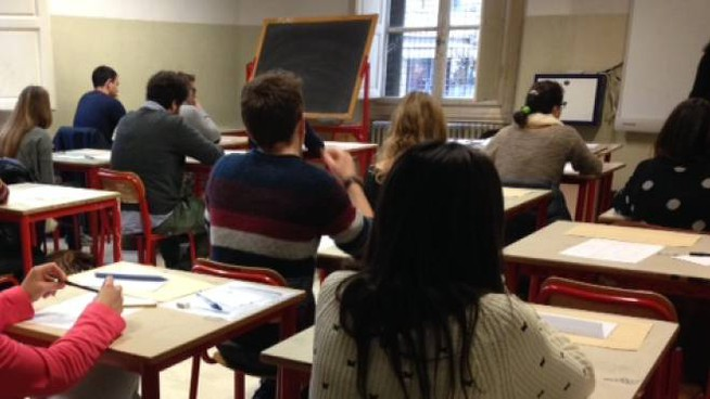 Studenti a lezione (foto di repertorio)