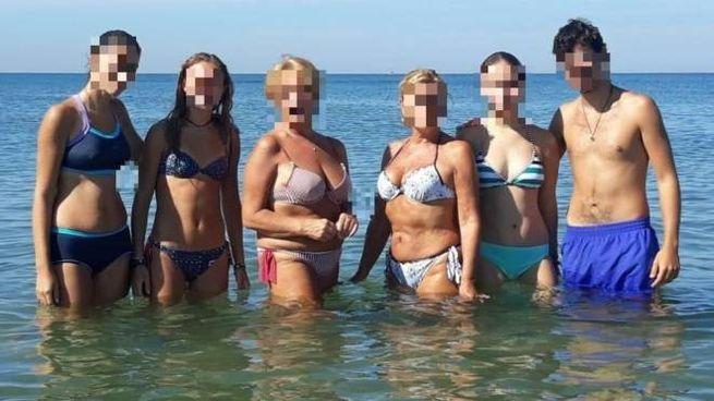 Gli studenti in spiaggia