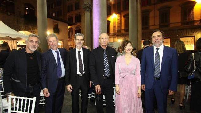 Premio Porcellino. Foto di gruppo dei premiati (Umberto Visintini/New Press Photo)