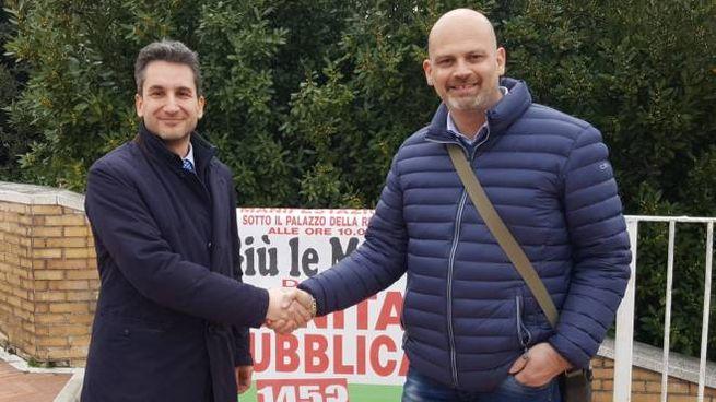 I sindaci Francesco Baldelli (Pergola) e Gabriele Bonci (Fossombrone)