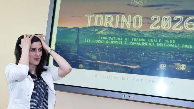 Olimpiadi invernali 20126, la sindaca di Torino Chiara Appendino (Ansa)