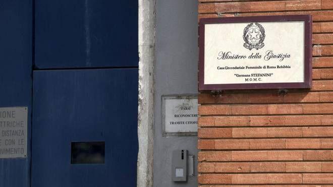 Una veduta esterna dell'area femminile del carcere di Rebibbia (Ansa)