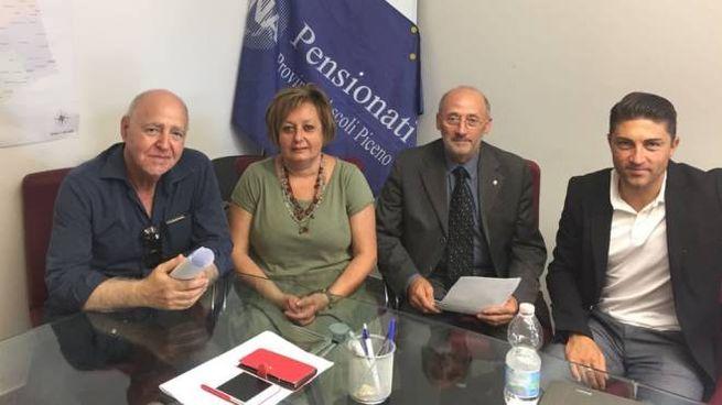 Da sinistra: Alvaro Cafini, Anna Rita Pignoloni, Luigi Passaretti e Francesco Balloni