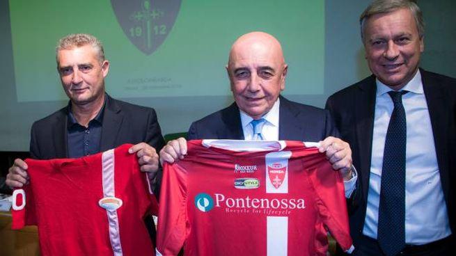 Daniele Massaro, Adriano Galliani e il sindaco Dario Allevi
