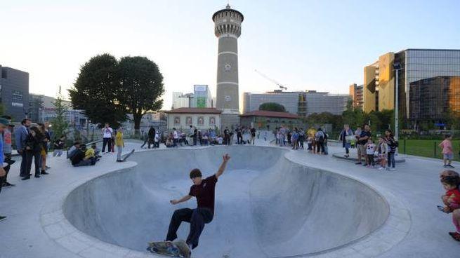 Lo skate park del Parco della Torre (Newpress)