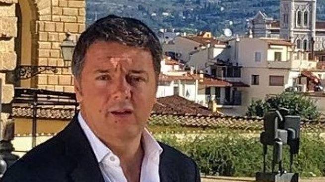 Matteo Renzi durante le riprese del docufilm su Firenze