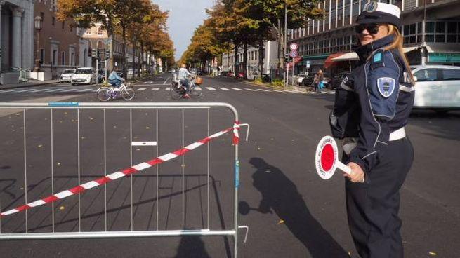 Un blocco del traffico della Municipale
