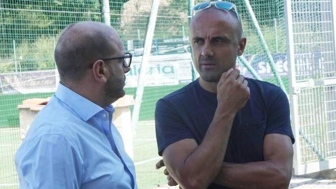 Il direttore generale Alessandro Doga a colloquio con il presidente Cristiano Baroni