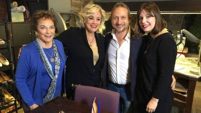 Frances Mayes nelle riprese di Dream of Italy a Cortona