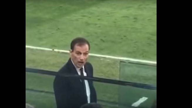 Allegri durante Juve-Young Boys in un video amatoriale