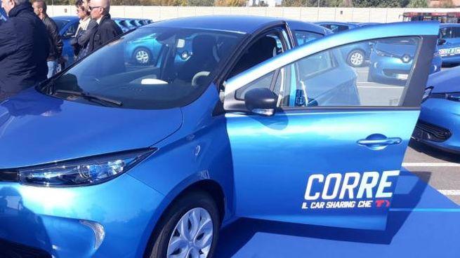 Le Renault Zoe elettriche del car sharing Corrente