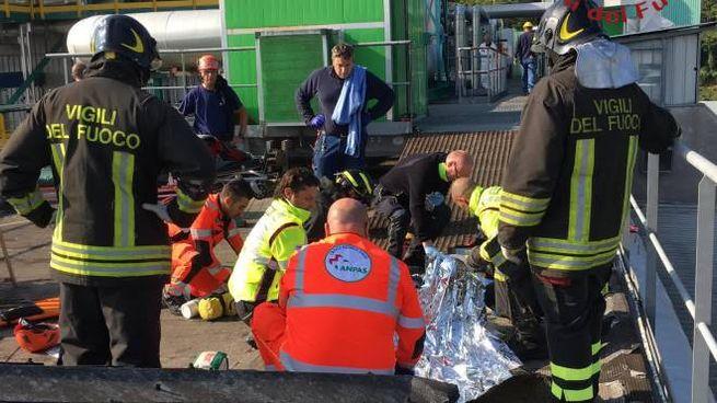 L'intervento dei soccorritori