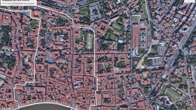Area centro nord di Pisa