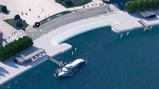 Il rendering del progetto di paratie per il lago di Como