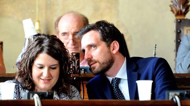 L'assessore al bilancio Margherita Semplici e il sindaco Tomasi