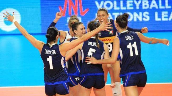 Volley femminile, la gioia delle azzurre