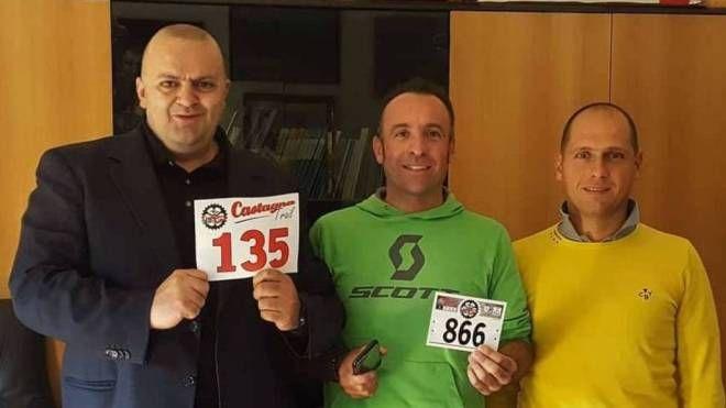 Il sindaco Filippo Bellesi, Emanuele Pagani ed Emiliano