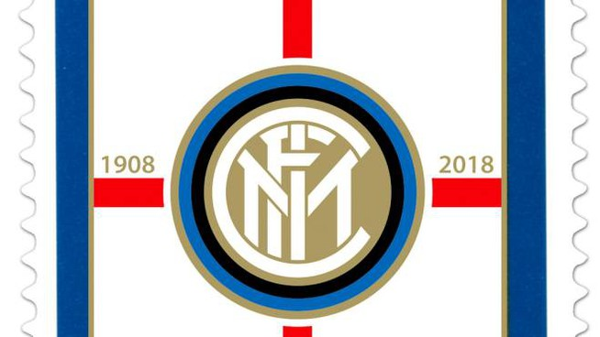 Il francobollo dedicato ai 110 anni del Football Club Internazionale Milano