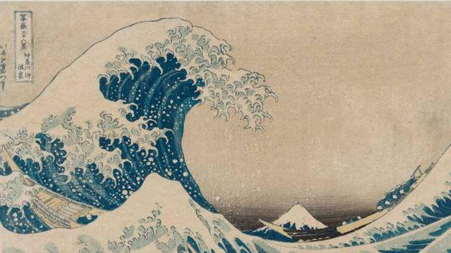 La mostra 'Hokusai Hiroshige. Oltre l'onda' è al Museo Archeologico da oggi al 3 marzo. 'La (grande) onda presso la costa Kanagawa' di Hokusai