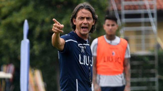 Bologna Fc, Inzaghi dirige l'allenamento (FotoSchicchi)