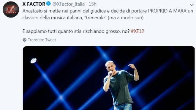 X Factor 2018, Anastasio