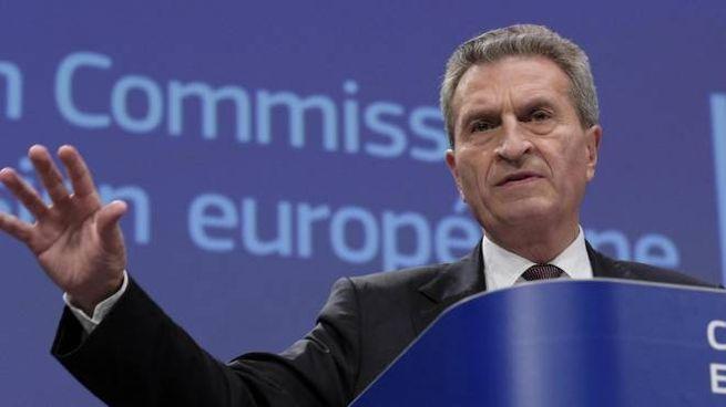 Guenther Oettinger, commissario al Bilancio Ue (Ansa)